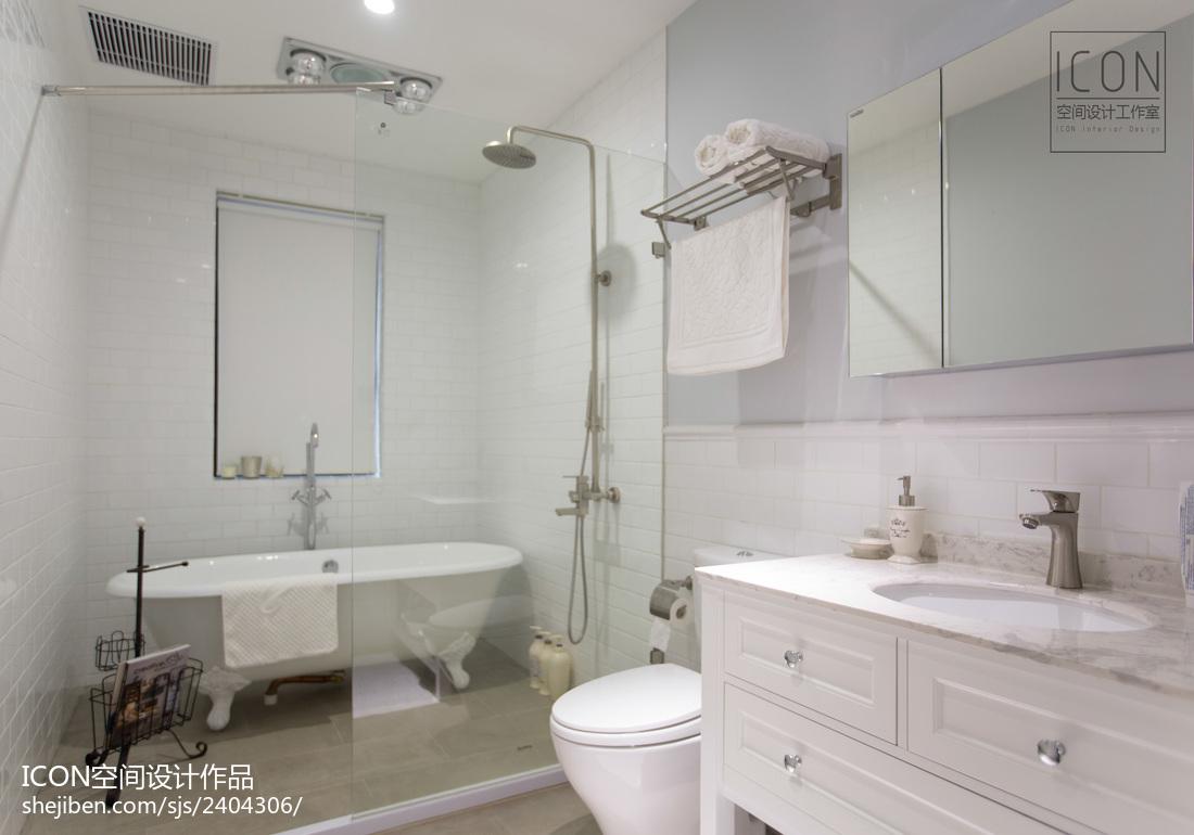 美式风格卫生间吊顶装修图卫生间美式经典卫生间设计图片赏析
