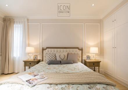 2018面积122平别墅卧室美式装修设计效果图片大全卧室