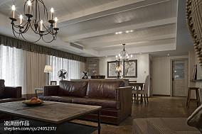 美式风格客厅过道装修设计图