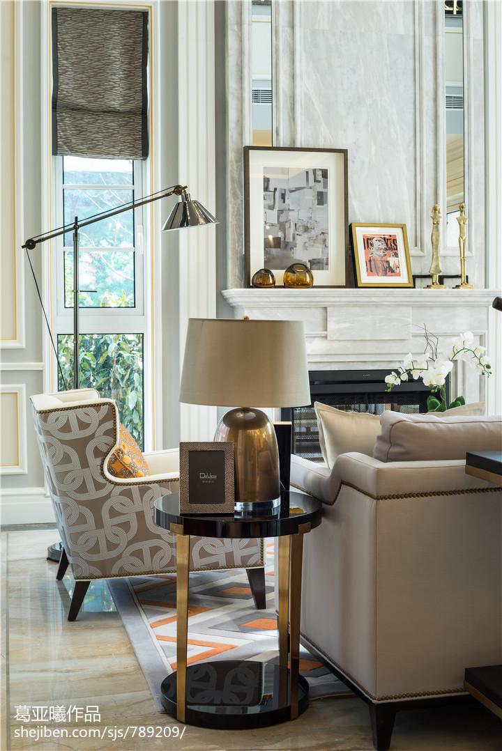 精美面积110平别墅客厅美式装修效果图客厅美式经典客厅设计图片赏析