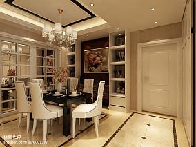 107平方三居餐厅欧式装修效果图片欣赏