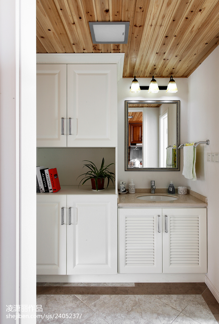 美式风格厨房吊顶装修设计图美式经典设计图片赏析