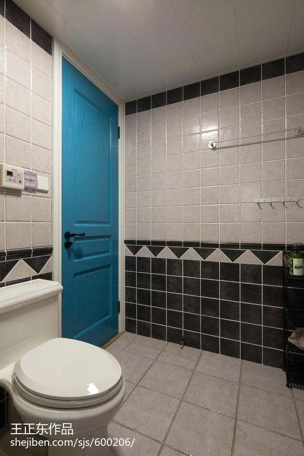 2018大小94平美式三居卫生间效果图片卫生间美式经典卫生间设计图片赏析