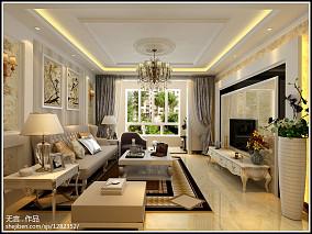 精选108平方三居客厅欧式装饰图片