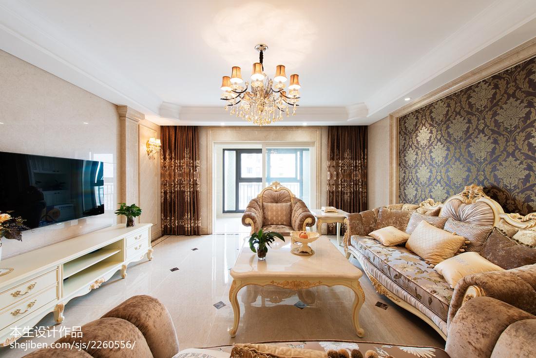 2018面积116平别墅客厅欧式装修欣赏图别墅豪宅欧式豪华家装装修案例效果图