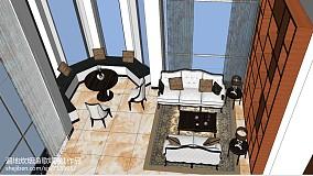 现代装修客厅吊顶