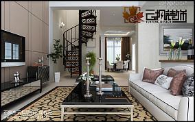精选面积122平复式客厅欧式装修图片大全