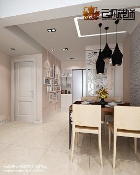 面积89平现代二居餐厅装修图片