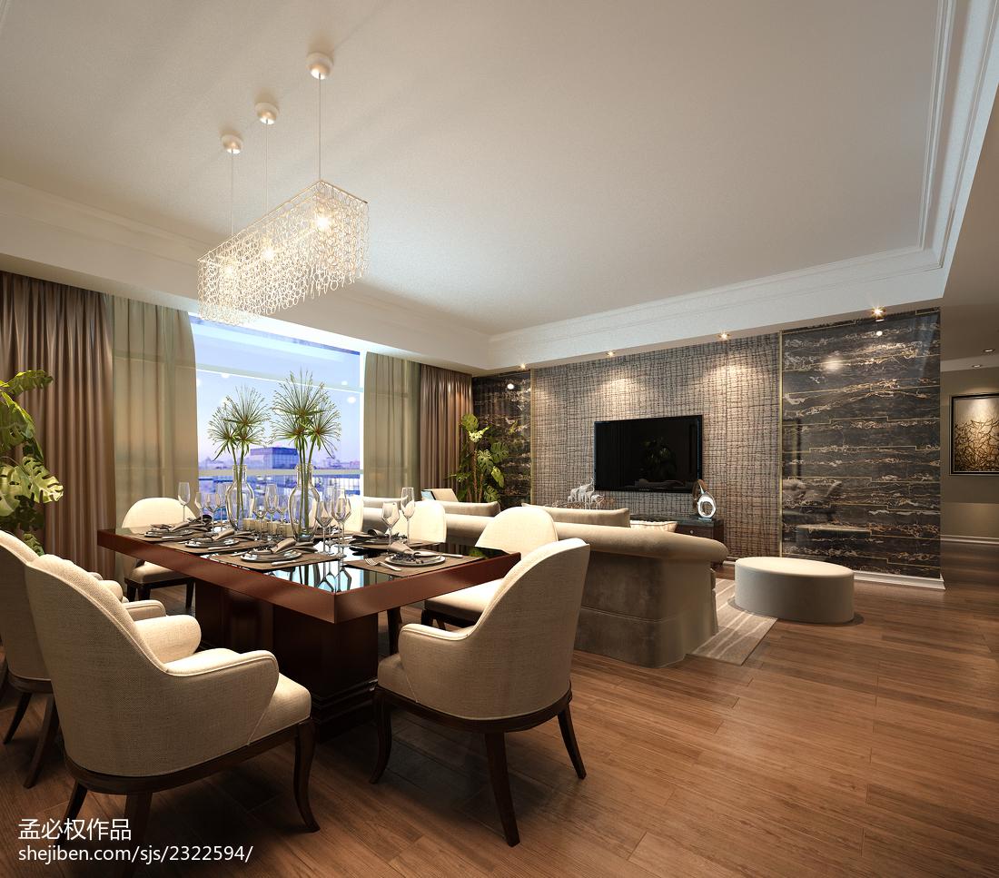 公寓装修图片方案厨房美式经典餐厅设计图片赏析