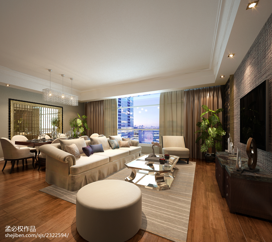 公寓客厅装修图片客厅美式经典客厅设计图片赏析