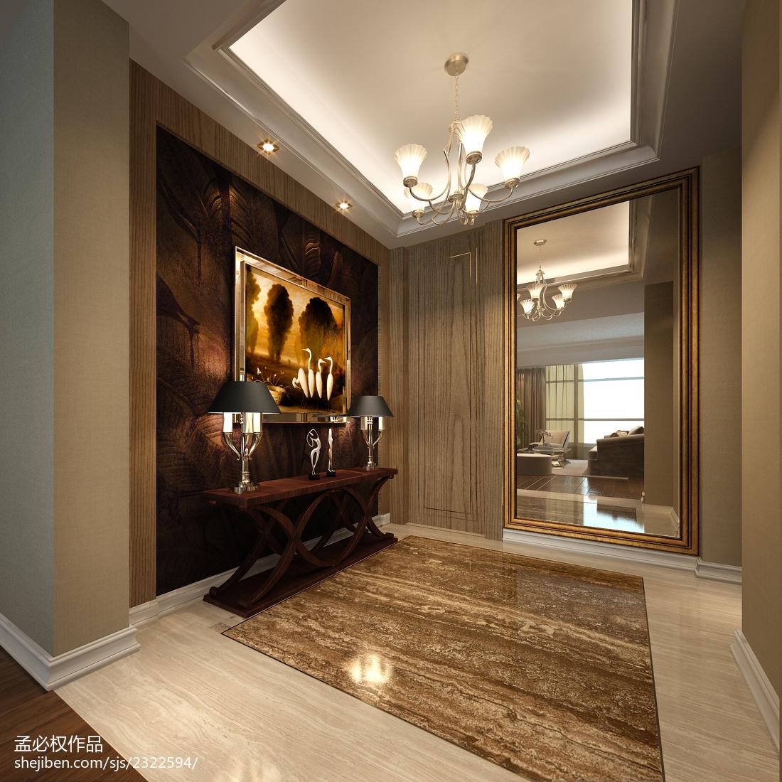 公寓玄关装修图片玄关美式经典玄关设计图片赏析