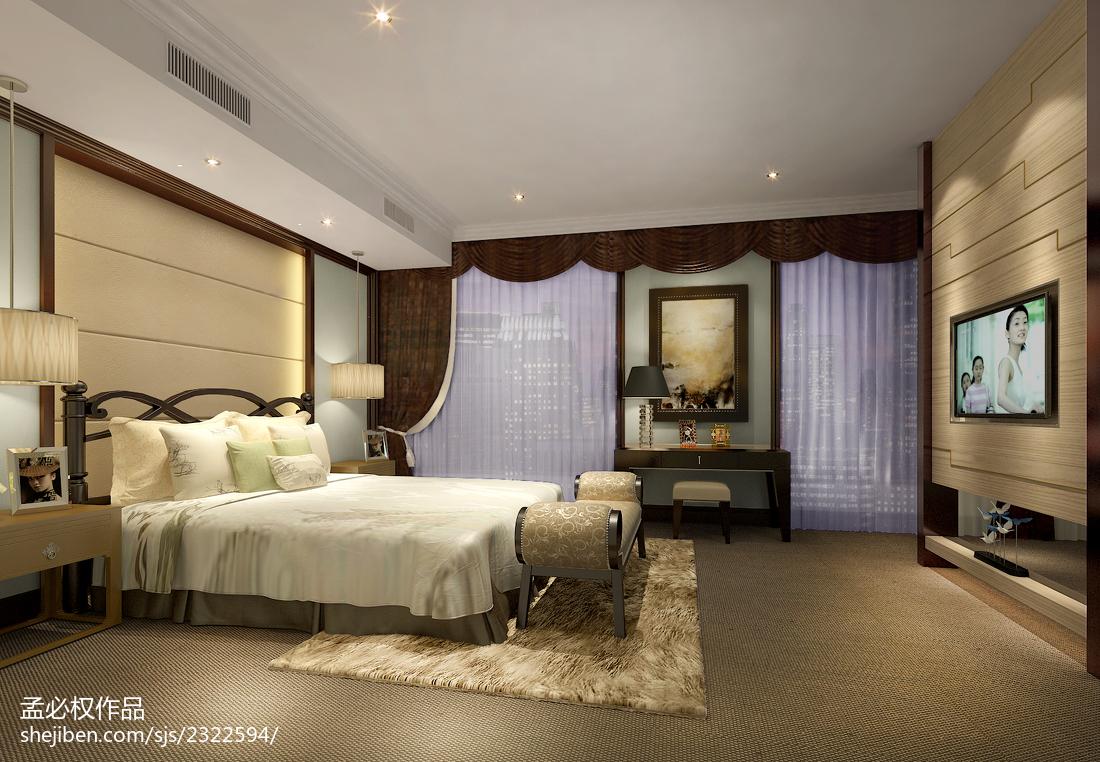 公寓卧室装修图片卧室美式经典卧室设计图片赏析