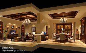 精美面积103平美式三居客厅效果图片大全