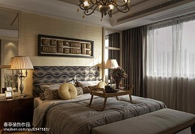 精美110平米东南亚别墅卧室装修图片