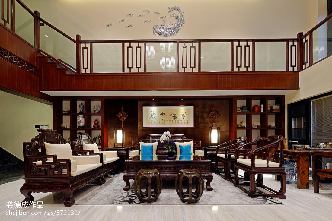 中式别墅客厅装修效果图欣赏