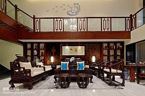 2018精选面积143平别墅客厅中式装修欣赏图片