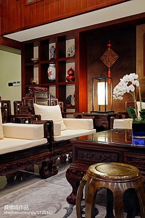 热门面积137平别墅客厅中式效果图其他设计图片赏析