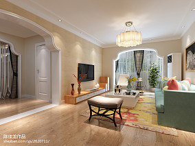 精选70平米二居客厅欧式装修图片欣赏