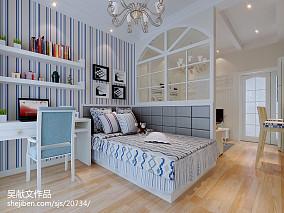 精美70平米现代小户型卧室装修实景图