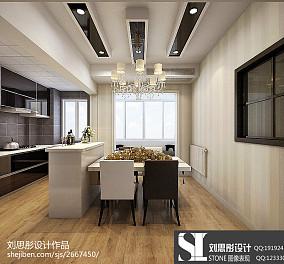 热门108平米三居餐厅现代实景图