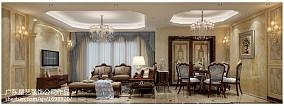 热门90平方三居客厅欧式装修实景图片