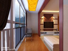 精美面积102平现代三居阳台装修图片欣赏