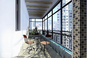 马赛克地中海阳台装修图片