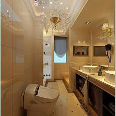 质朴137平欧式四居卫生间实景图