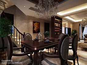 2018面积132平复式餐厅欧式装修设计效果图