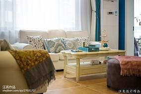 地中海四居客厅装饰图