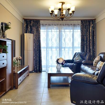 109平米三居客厅新古典装修效果图片大全客厅