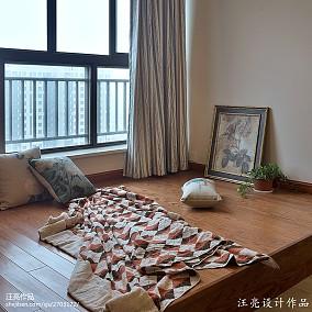 91平米三居休闲区新古典装修实景图功能区美式经典设计图片赏析