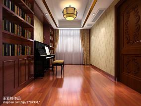 热门中式复式书房效果图片欣赏