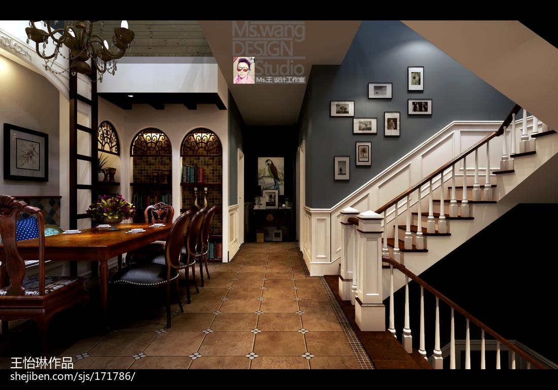 悠雅775平地中海别墅餐厅装饰美图厨房地中海餐厅设计图片赏析