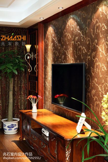 2018精选面积110平欧式四居客厅装修设计效果图片客厅