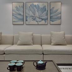 质朴87平中式三居客厅实拍图