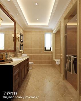 美式别墅卫生间装修图片欣赏