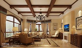 136平米美式别墅客厅装饰图片大全