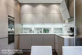 极简的现代风厨房室内装修设计图片餐厅现代简约厨房设计图片赏析