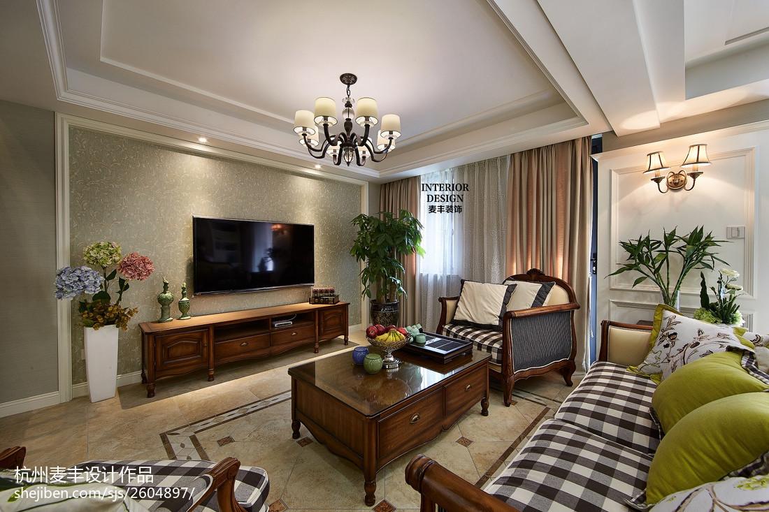 简约美式客厅空间装修设计大全客厅美式经典客厅设计图片赏析