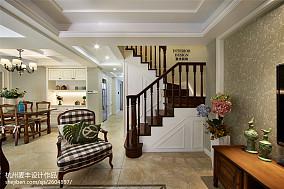 简约美式室内楼梯设计图大全客厅美式经典客厅设计图片赏析