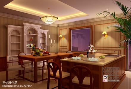优美306平混搭别墅餐厅装饰图片厨房