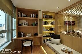 精选书房中式装修图片大全样板间中式现代家装装修案例效果图