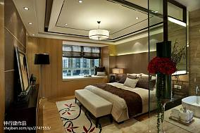 卧室中式装修效果图片样板间中式现代家装装修案例效果图