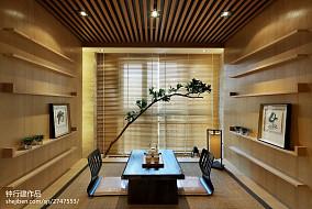 2018精选休闲区中式装修欣赏图样板间中式现代家装装修案例效果图