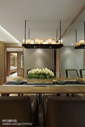 精美301平中式样板间餐厅装修图样板间中式现代家装装修案例效果图