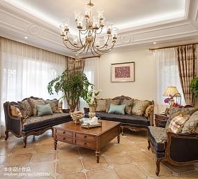 美式客厅吊顶设计装修图片客厅美式经典客厅设计图片赏析