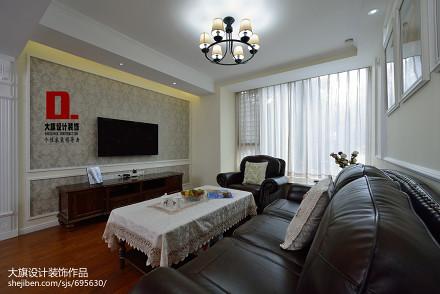 精美102平方三居客厅美式设计效果图