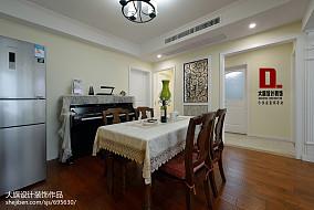 精选90平方三居餐厅美式装饰图片欣赏