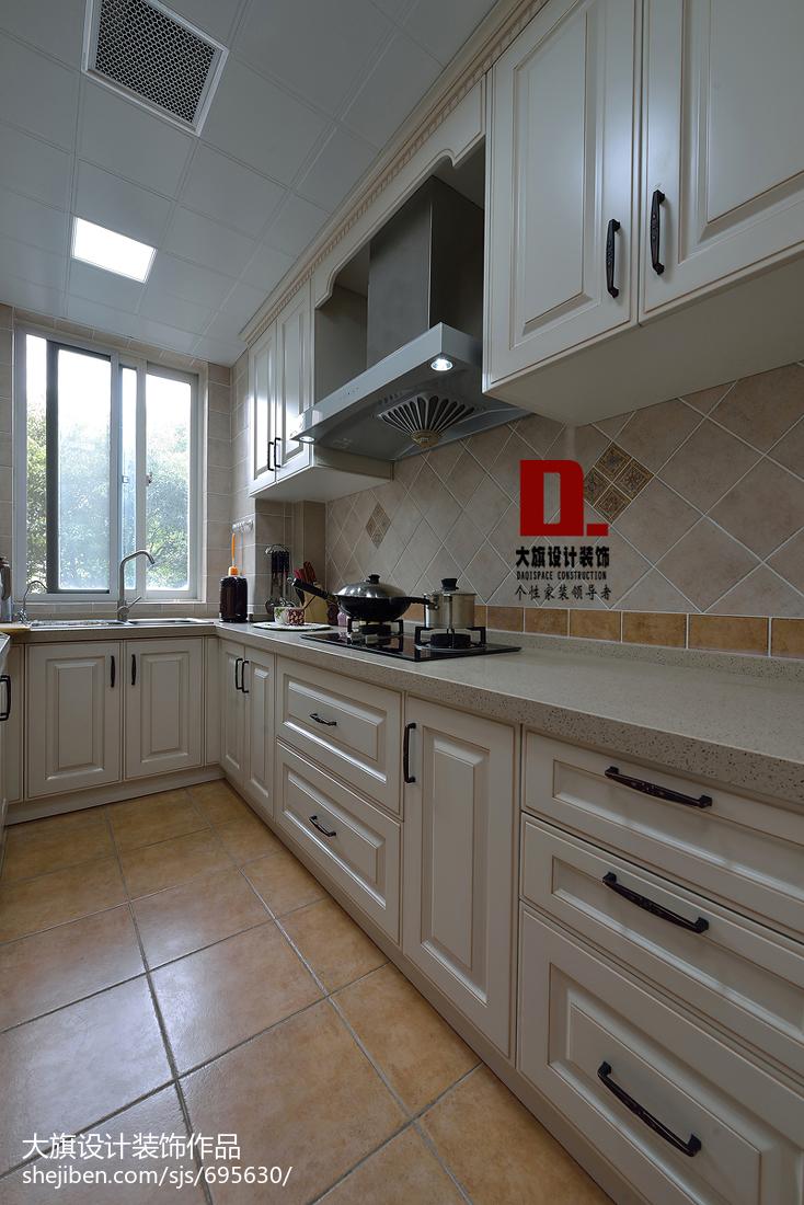 美式厨房复合亚克力家装效果图功能区橱柜美式经典功能区设计图片赏析